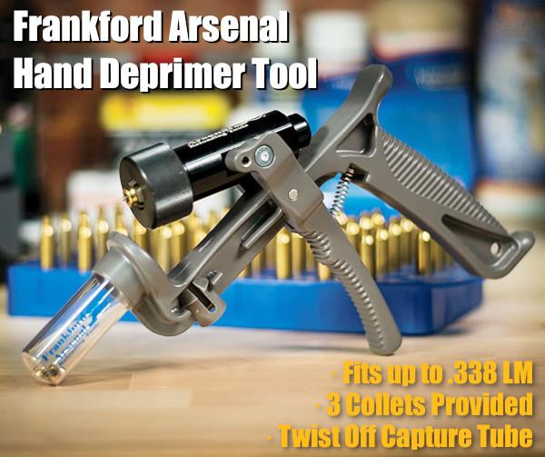 Frankford Arsenal deprimer depriming hand tool decapping primer removal