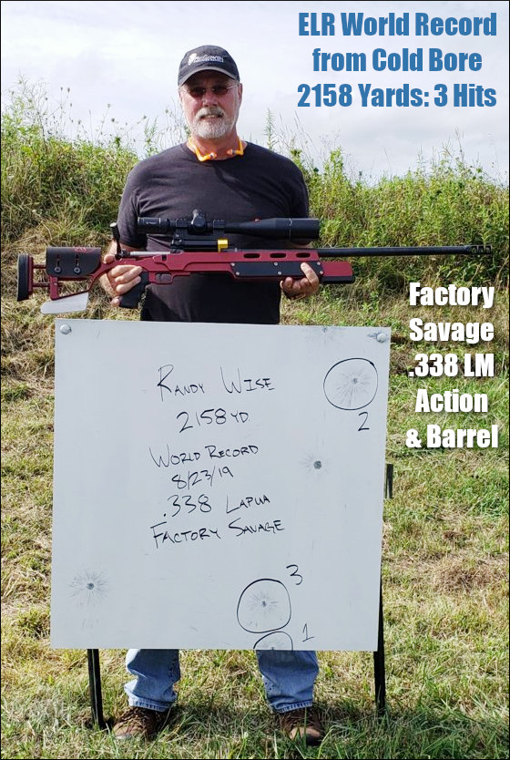 Randy Wise ELR Central world record cold bore .338 Lapua Magnum LM Camp Atterbury Indiana