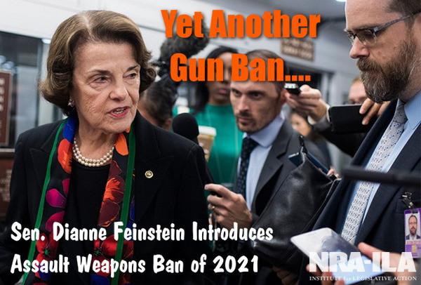 Senator Dianne Feinstein Assault Weapons Ban 2021 democratic party