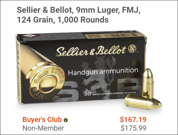 Sellier Bellot Ammo ammunition 9mm luger 9x19mm