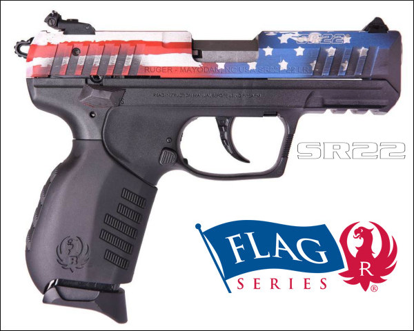 Ruger Flag series rifle pistol sr22 ar-556