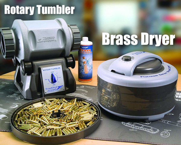 Cartridge brass case tumbler thumblers wet brass Frankford Arsenal stainless media lapua cleaning dryer dyhydrator frankford Lyman Cyclone