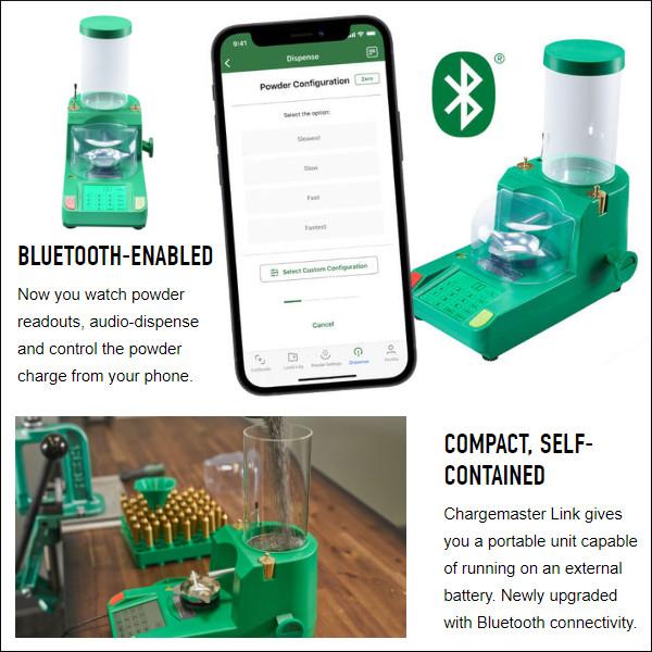 RCBS powder scale dispenser electronic bluetooth LINK mobile app batter AC