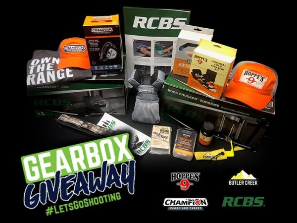RCBS Hoppes Hunting Gearbox Giveaway contest August