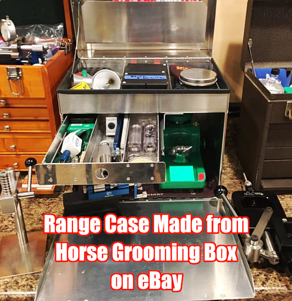 Range carry loading reloader box case transport horse equine grooming case box