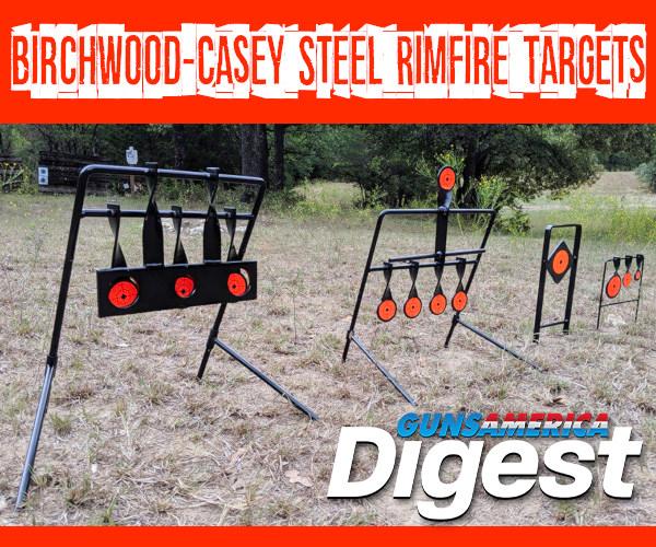 Birchwood Casey rimfire .22 LR 22LR steel reactive targets pistol rifle