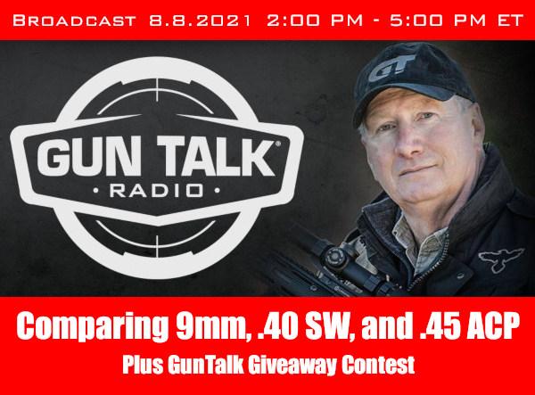 guntalk radio gear giveaway pistol ammo 9mm .40sw .45 acp