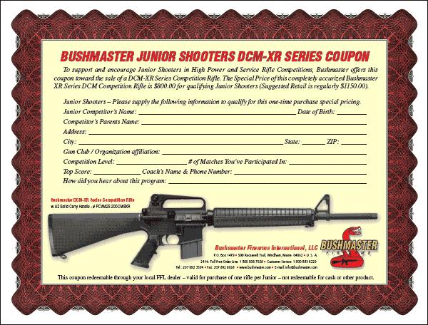 Bushmaster XR-DCM Offer