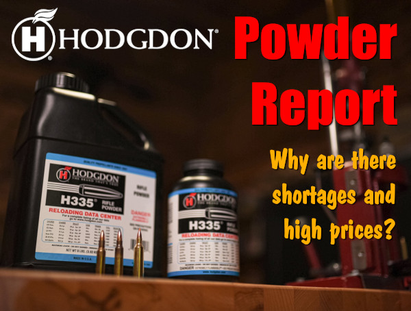 Hodgdon Powder report supply pricing shortage