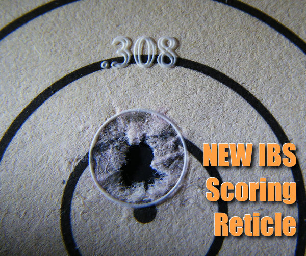 ibs benchrest shooters score scoring shot diameter reticle domed magnifier