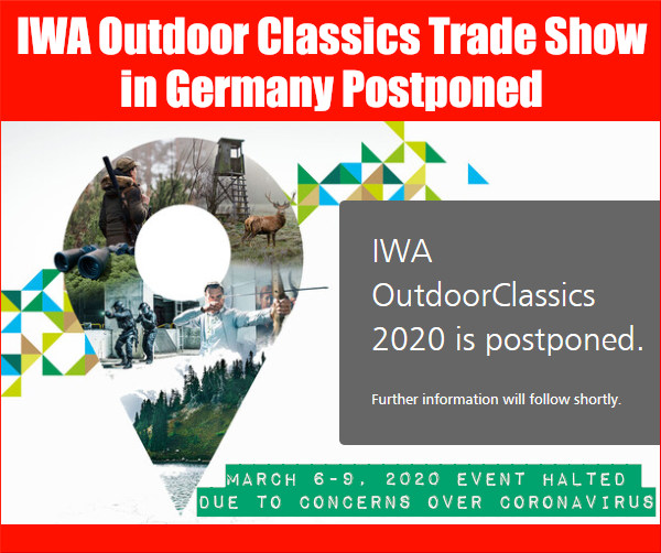IWA Outdoor Classics Nuremberg Germany cancellation postponed SHOT Show Trade event
