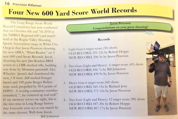 NBRSA Score Championship Record Set October Oregon Rogue Valley