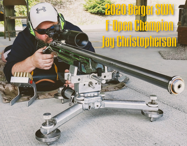 Jay Christopherson Berger SWN Southwest Nationals Champion F-Open Rifle .284 Winchester Win profile
