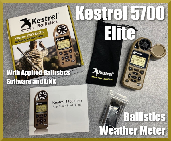 Kestrel 5700 Elite Ballistics Weather Meter Review App Applied Ballistics