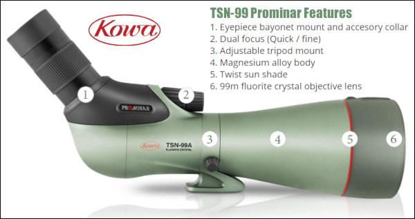 Kowa TSN-99A TSN-99 99mm Spotting Scope Prominar new