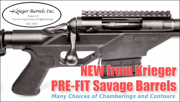John Krieger Barrels cut-rifled Savage Prefit Pre-fit chambered rifle barrels pre-chambered
