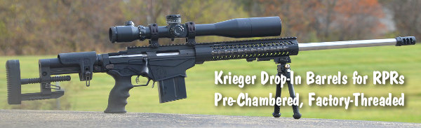 Krieger Barrels Ruger Precision Rifles Pre-Fit Drop-In Chambered barrel RPR