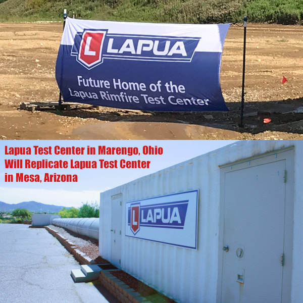 Marengo Ohio Lapua Rimfire test testing center lot ammo ammunition tunnel facility new