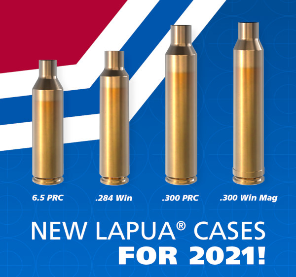 Lapua new cartridge brass 20201 PRC .284 win Winchester .300 Win Mag