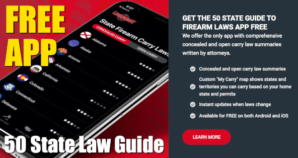 Legal Heat 50 state FREE APP firearms CCW concealed carry laws Reciprocity