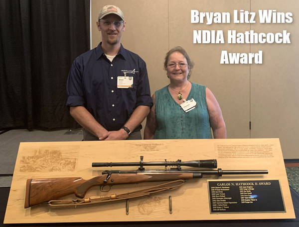 Bryan Litz Carlos hathcock NDIA National Defense Industrial Association award winner 2019