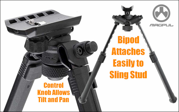 Magpul bipod swivel stud sling quick detach QD
