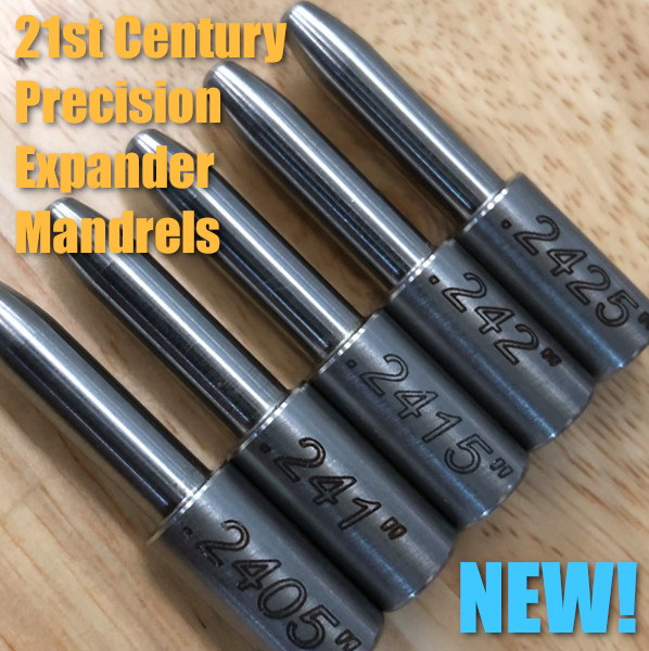 21st Century Shooting expander mandrels die body precision