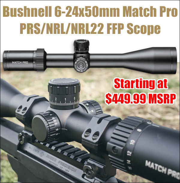 Bushnell Match pro riflescope scope optic NRL PRS NRL22 FFP base class