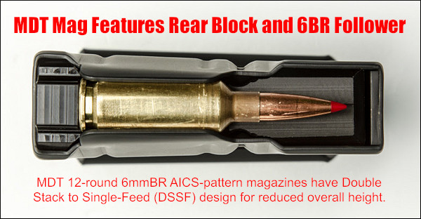 PRS NRL magazine mag 6BR 6mmBr Norma 6 BRA Dasher BRX tactical short cartridge MDT