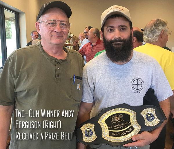 IBS 600 Yard nationals benchrest Andy Ferguson Prize Belt Two Gun Winner