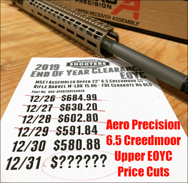 Midsouth ShootersSupply    End of Year Clearance Sale EOYC Aero Precision AR upper discount prices New Year 2020
