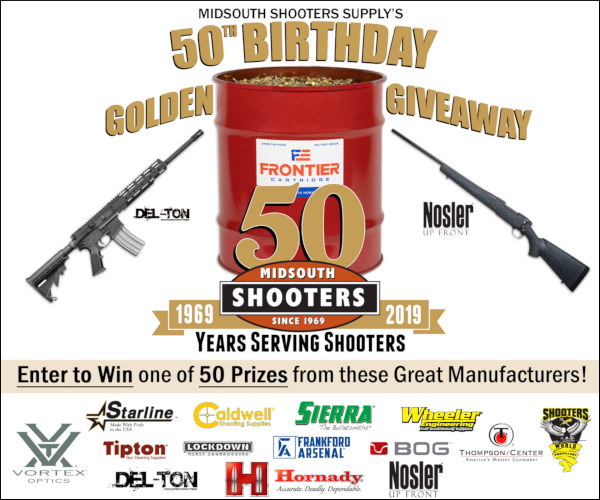 Midsouth Shooters Supply 50th year anniversary contest giveaway discount sale
