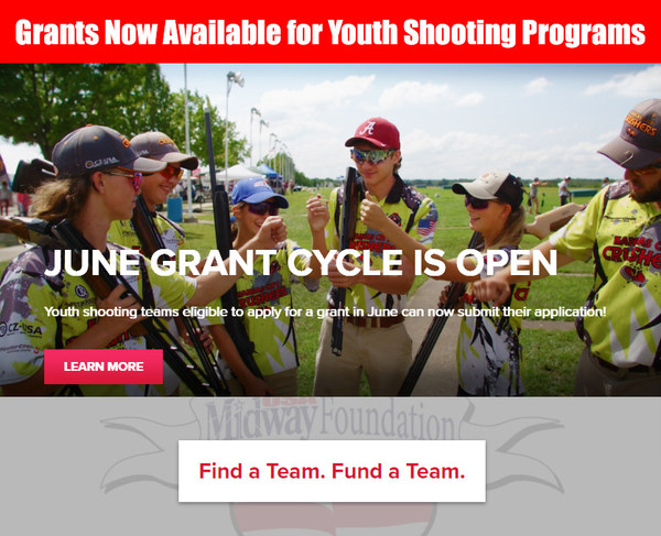 MidwayUSA foundation youth shooting grant program application June