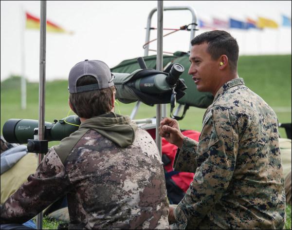Marine corps junior clinic CMP National Matches Camp Perry Brandon Green USAMU marksmanship training