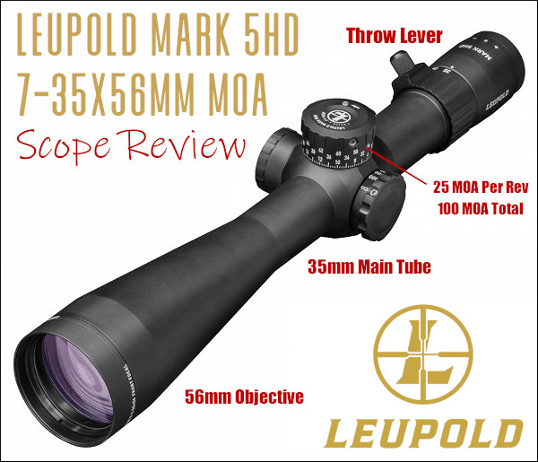 Leupold Mark 5HD MKV 7-35x56 scope optic riflescope f-class Second focal plane riflescope