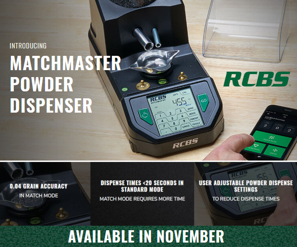 RCBS Matchmaster powder dispenser scale two tube match mode 0.04 grain chargemaster