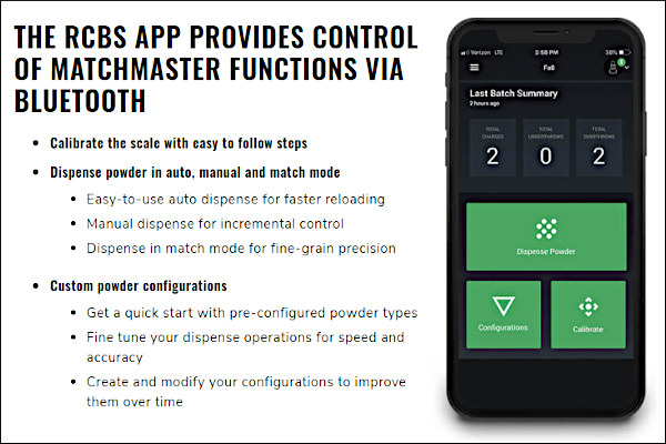 Matchmaster bluetooth mobile app