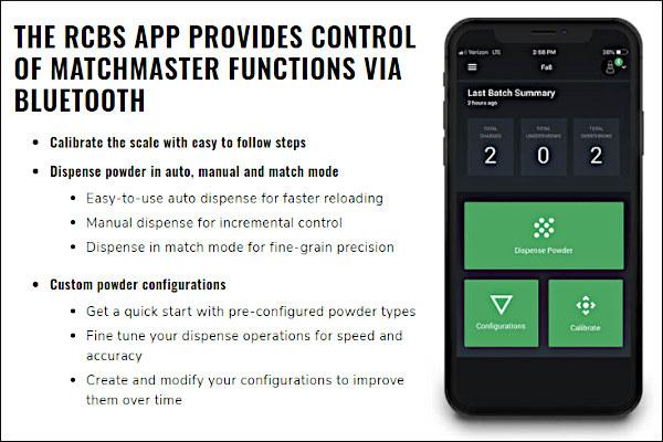 Matchmaster bluetooth mobile app