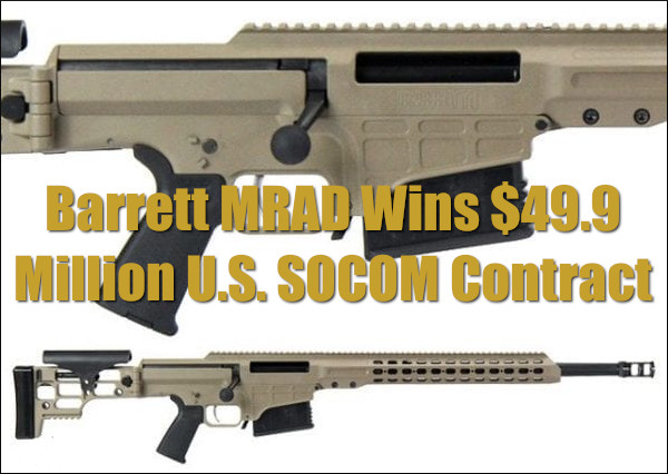 Barrett Mfg MRAD U.S. SOCOM AST Advanced Sniper Rifle .308 Win 7.62x51 .300 Norma Magnum .338 Norma Magnum