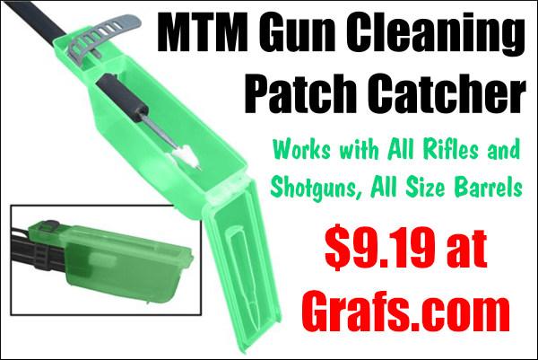MTM Case-Gard patch gun cleaning patch catcher green plastic box maintenance