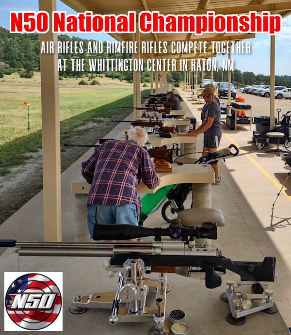 National 50 benchrest league Raton NM Whittington Center Air rifle .22 LR