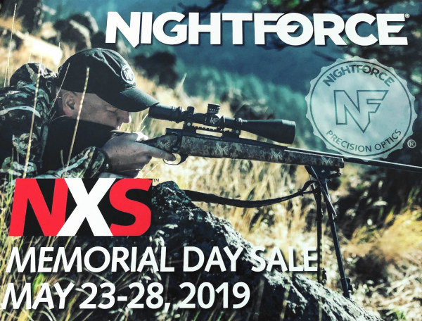 Nightforce NXS scope sale 20% Off discount Memorial day