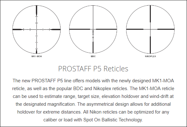 Nikon prostaff P5 1