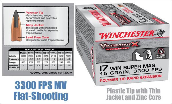 17 WSM Winchester Super Magnum lead-Free