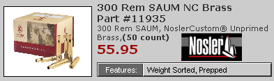 7mm Remington SAUM brass Nosler'><b>Brass Options and Case Prep</b><br /> <br>Currently, you have three choices for SAUM brass--foreign (Norma) or domestic (Remington and Nosler). Norma is expensive, and currently only available in the larger 300 SAUM case, so you'll have to neck it down. But it's very good brass. <a href=