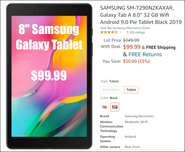 samsung android tablet tab computer portable ShotMarker black friday sale