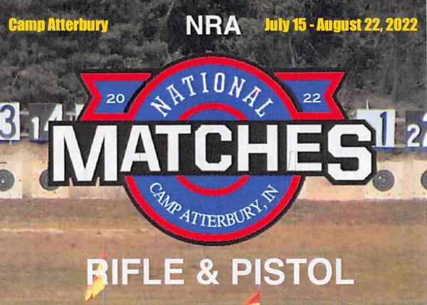 NRA National Matches Calendar schedule 2022 summer Camp Atterbury Indiana