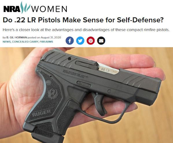 .22 LR rimfire pistols defense