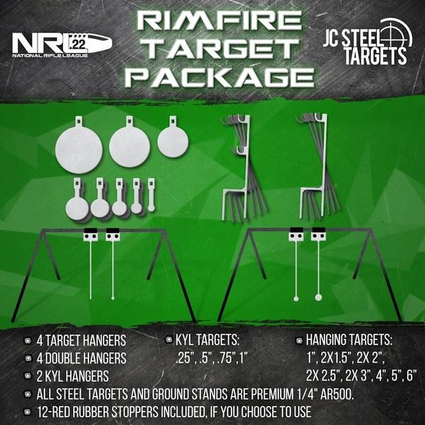 NRL22 rimfire tactical steel targets KYL JC Steel hangers