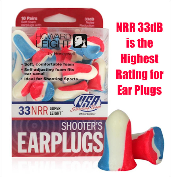 shooting ear protection nrr 33 ear plugs howard leight